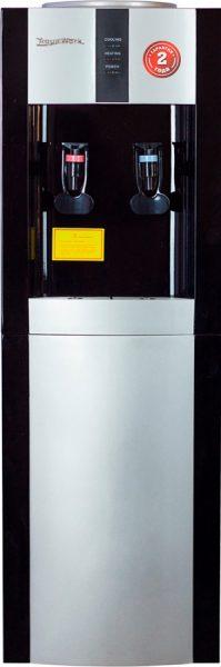 Напольный кулер для воды Aqua Work 16-LD/EN серебристо-черный с нагревом и охлаждением