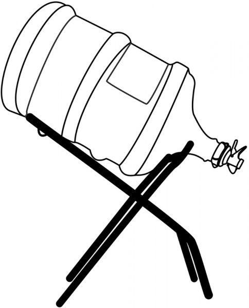 Наклонная подставка под бутыли 19 литров - отличная замена ручной помпе