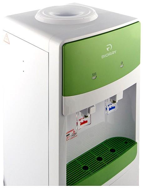 Кулер для воды BIORAY WD 3107E бело-зеленый напольный (3)