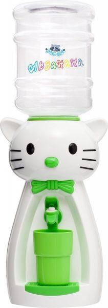 Диспенсер «Кошка» (белая с салатовым) 1